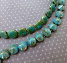 Brin de 20 tipp perles 8mm bleu turquoise picasso
