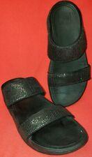 FitFlop Lulu Superglitz Women's Slide Double Crossover Sandals Size 6M 37EU...