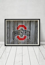 The Ohio State University Buckeyes Football Logo Framed Print Art Wood Sign Gift