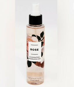 Bath & Body Works ROSE Illuminating Fragrance Shimmer Mist 4.9 oz Full Size NEW