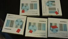 "Lot of 5 Ampex 291 Professional Reel to Real Blank Tape  5""x1/4""x600' New Sealed"