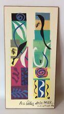 "Henri Matisse Beasts Of The Sea Wood Plaque Modern Art Print 12""X 6"""