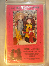 Fiber Mosaics Carole Marie and Her Cat Kermit Cloth Doll Pattern Uncut