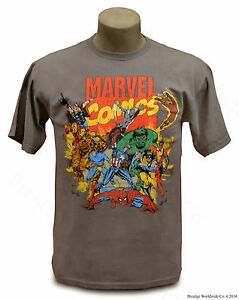 Official Marvel Comics T-Shirt *NEW* (Youth XL/Adult Small) Hulk Thor Spiderman