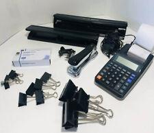 Bostitch 11 Hole Puncher Stapler Staple Remover Calculator Office Lot