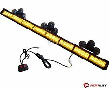 35 inch LED Amber Light Emergency Warn Strobe Flash Yellow Bar Hazard Security