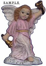 Angel Ornament Ringing Bell 2.5 inch Hand made Ceramic Ready to paint bisque