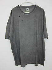 ASOS Envy Kills Distressed T-Shirt - Mens 3XL - Grey - NWT