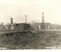 1912 Tile Factory Dysart, Iowa RPPC Real Photo Postcard IA Brick Cement Industry