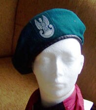 Polish ARMY FILED BERET , PRIVATE  size 60  with White Eagle with Crown, cap hat