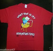 CARTOON NETWORK Adventure Time T-Shirt X-LARGE - Finn Jake WHAT TIME IS IT?