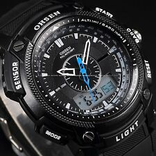 OHSEN Mens Waterproof Digital Sport Rubber Date Day Quartz Wrist Watch Vogue
