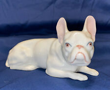 French Bulldog Vintage Porcelain Heubach Germany Dog Figurine