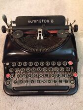 Vintage Remington Rand Model 5 Black Portable Typewriter