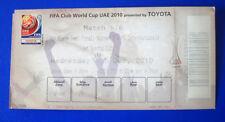 BIGLIETTO TICKET FIFA CLUB WORLD CUP 2010 MATCH 5/6 SEONGNAM-INTERNAZIONALE RARO