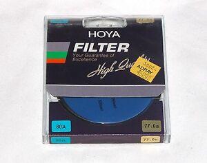 62mm Hoya 80A Blue Glass Lens filter 80 A Japan Coated 62 mm Circular Camera
