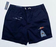 """Polo Ralph Lauren Men XL Classic Fit Beach Bear Shark Embroidery 6"""" Shorts NEW"""
