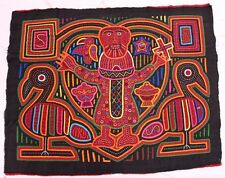 Vintage 1970s-1980s Three Layers Kuna Indian Mola from San Blas of Panama