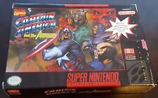 Captain America and the Avengers Marvel Super Nintendo Snes In Box! Clean! Rare!