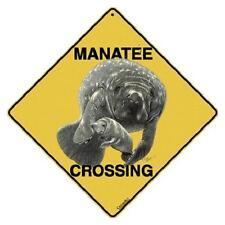 "Manatee Metal Crossing Sign 16 1/2"" x 16 1/2"" Diamond shape Usa #10"