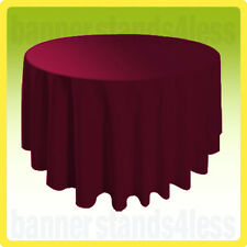 "120"" Burgundy Red Round Tablecloth Table Cover Wedding Banquet Event Cloth"