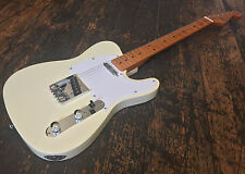 SX White Tele / Telecaster Electric Guitar & Padded Gig Bag