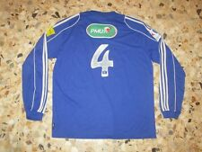 Maillot shirt jersey porté football ancien  N° 4 Coupe France  2012-2013 ? bleu