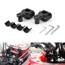 CNC Black Handle Bar Risers 22mm 25mm / 28mm Universal Motorcycle Motorbike NEW