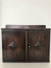 More details for vintage wall hanging smoker pipe cabinet cupboard rack