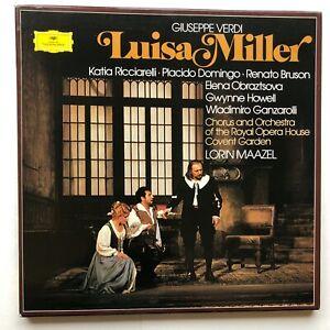 VERDI Luisa Miller 3 X LP BOX SET Deutsche Grammophon 2709 095  DOMINGO EX/NM