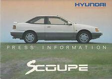 HYUNDAI S COUPE ORIGINAL PRESS PACK, RANGE PRICE LIST ETC ETC.  **POST FREE UK**