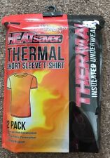 BNWT Heatsaver 2 Pack Thermal Black Short Sleeved T Shirts. Size Large