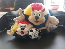 2 Uefa Euro Ek voetbal 2000 Mascotte Mascot Maskottchen Benelucky rare!