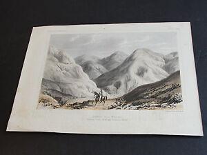 1850's Chromolithograph-Rounded Hills,Tertiary (Between Ocoya Creek)-Print. RARE