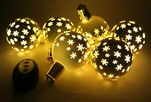 LUMIDA Xmas Christbaumkugeln LED Beleuchtung Timer Fernbedienung kabellos Gold