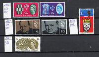Großbritannien 33 - 1962/1965 - Postfrische Auswahl