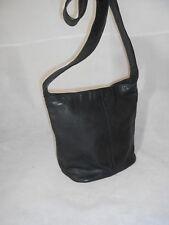 Ladies Black Shoulder Hobo Bag Real Leather Debenhams Size Large