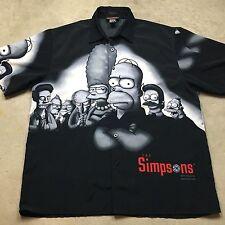 VTG THE SIMPSONS Sopranos Theme GOODFELLAS Mobster Hawaiian XL Shirt Bart HOMER