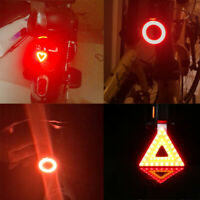 USB Rechargeable Bike Bicycle Tail Rear Safety Warning Light Taillight Lamp New