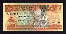 F.C. ETIOPIA ETHIOPIA , 5 BIRR 1976 , S/C (UNC) FIRMA 1 , P.31a .