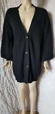 Alexander Mcqueen black heavy knitted wool cardigan coat oversized size M/L?