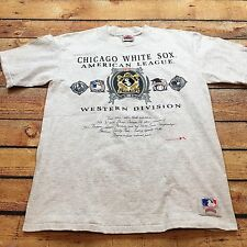 90s VTG Chicago WHITE SOX Nutmeg Mills L MLB T Shirt BIG HURT Bo Jackson USA