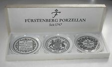 VINTAGE FURSTENBERG PORCELAIN SEIT 1747 WEST GERMAN BOXED PORCELAIN  PIN TRAYS