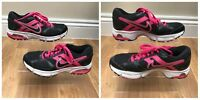 Girls Ladies Nike Air Trainers Size 4 Black and Pink EUR 37.5 Dictate