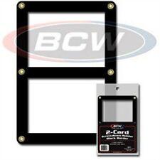 1 BCW 2 Card Black Border Screwdown Card Holder Storage Display Case
