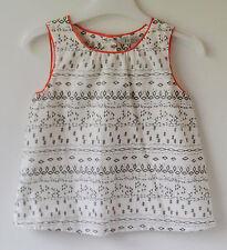 Girls 100% Cotton Sleeveless Top by INIGO at M&S New & Unworn 2 - 3 Years