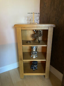 Solid Oak Wood Bookcase/ Ornament Shelf USED But In Perfect Condition