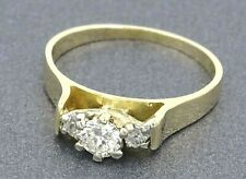 Ladies Beautiful 18ct Yellow & White Gold Diamond Engagement/Wedder Ring