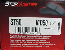 BRAND NEW STOP MASTER MD50 / D50 FRONT BRAKE PADS FITS VEHICLES LISTED