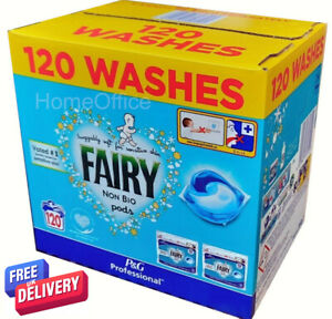 6120 Pods Fairy Non-Bio Pods Washing Detergent Tablets Capsules Pod 2 x 60
